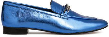 Leather Loafers - Purple
