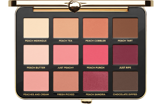JUST PEACHY MATTES VELVET MATTE EYESHADOW PALETTE INFUSED WITH PEACH AND SWEET FIG MILK