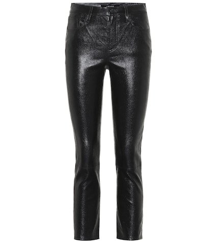 Ruby cropped leather skinny jeans