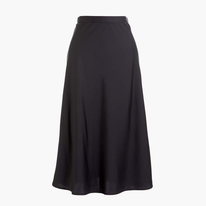 Pull-on bias midi skirt