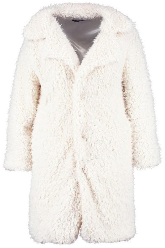 Plus Long Sleeve Faux Fur Coat | Boohoo