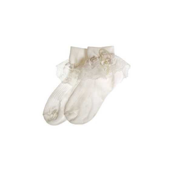 frilly lace socks off white pale ivory