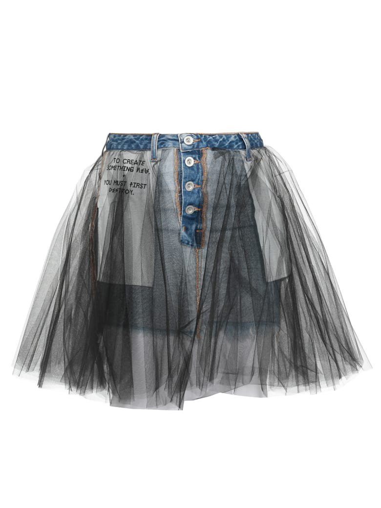 Ben Taverniti Unravel Project Ben Taverniti Unravel Project Mini Skirt - LIGHT BLUE W - 11112263   italist