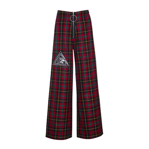 RED TARTAN RECKLESS FLARED PANTS – DB Berdan