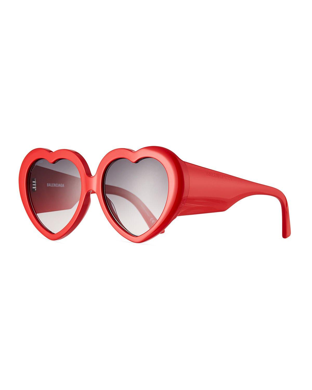 Balenciaga Heart-Shaped Acetate Sunglasses | Neiman Marcus