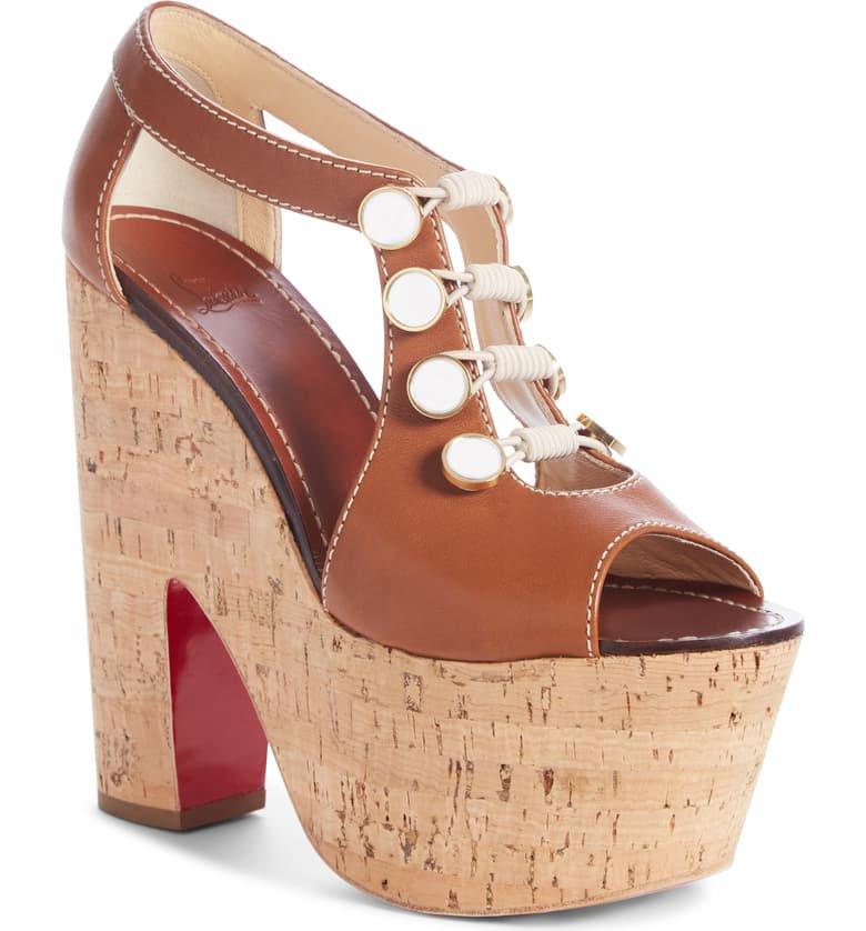 Christian Louboutin Ordonanette Platform Sandal (Women)   Nordstrom