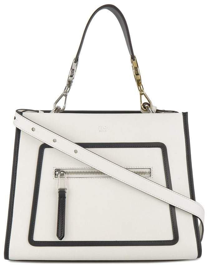 white Runaway leather shoulder bag