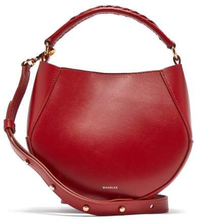 Corsa Mini Leather Tote Bag - Womens - Red