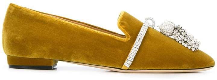 Giannico Louis crystal-embellished slipper