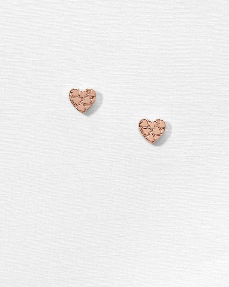 Heart to heart stud earrings - Rose Gold | Jewellery | Ted Baker UK