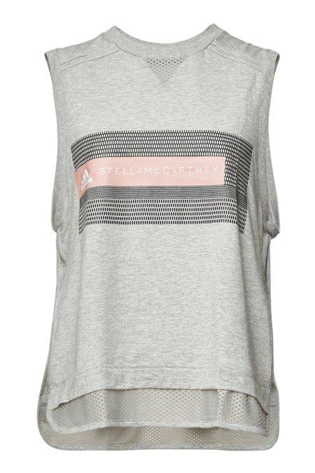 Adidas by Stella McCartney - Cotton Logo Tank - grey