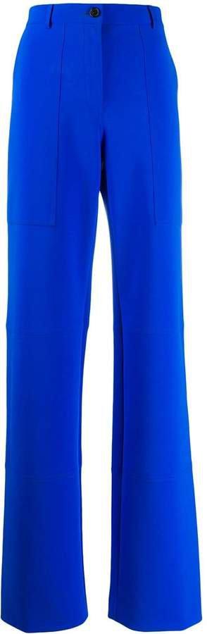long wide-leg trousers