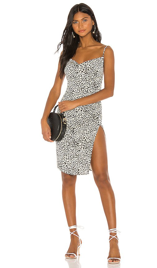 Lovers + Friends Justine Dress in Ivory Leopard | REVOLVE