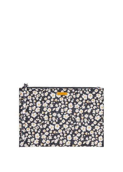 MANGO Floral-print cosmetic bag
