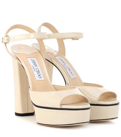 Peachy 125 leather plateau sandals
