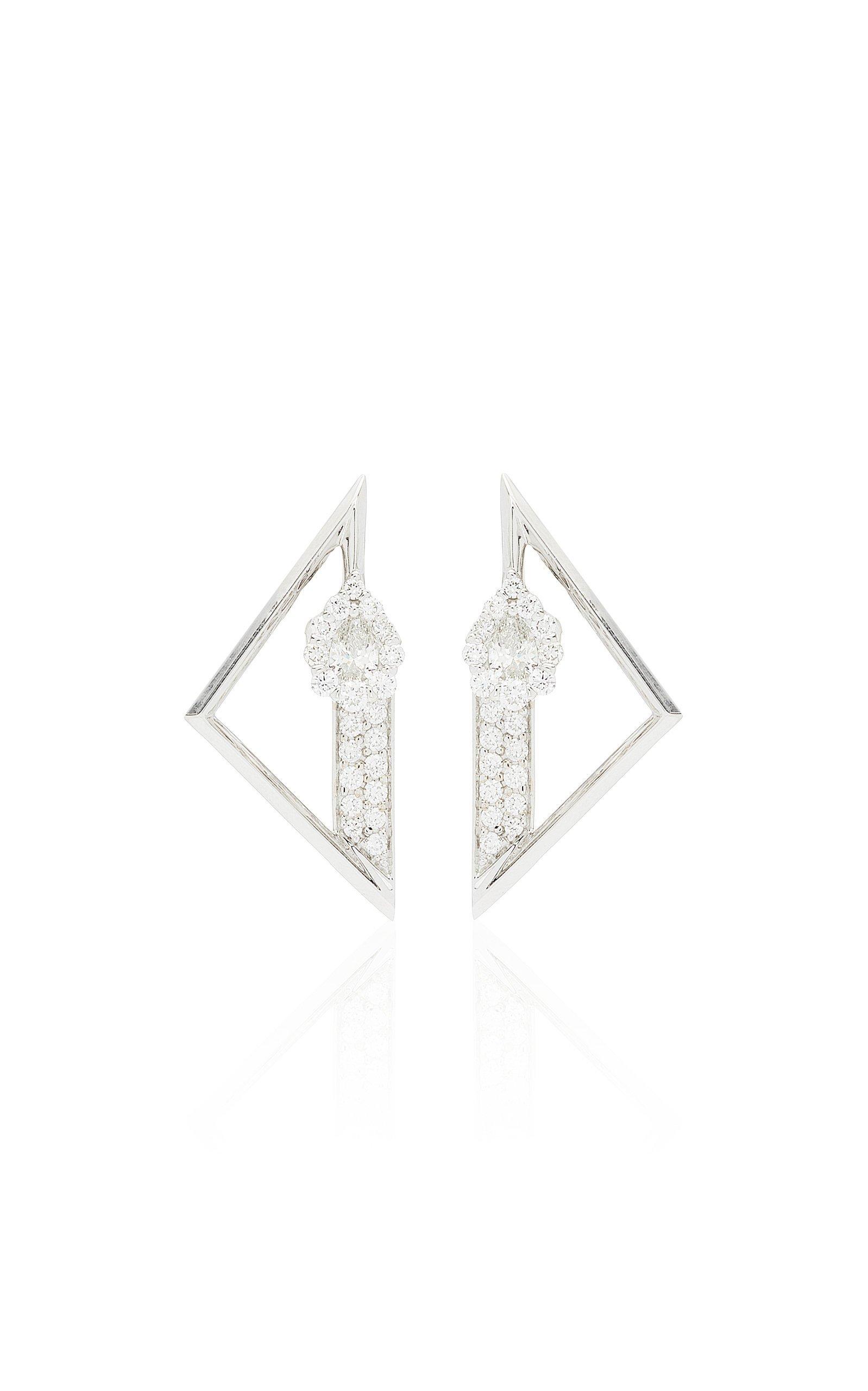 Yeprem 18K White Gold Electrified Earrings