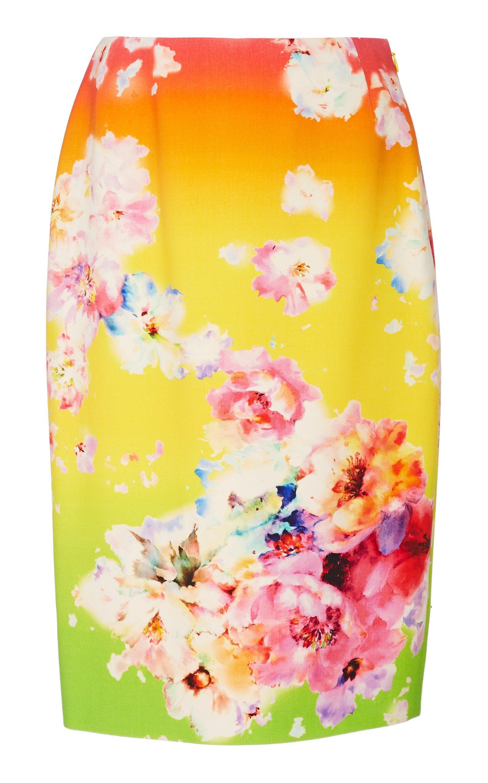 Ralph Lauren Cynthia Floral Wool-Blend Skirt