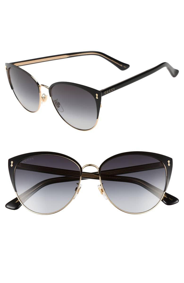 Gucci 58mm Cat Eye Sunglasses | Nordstrom