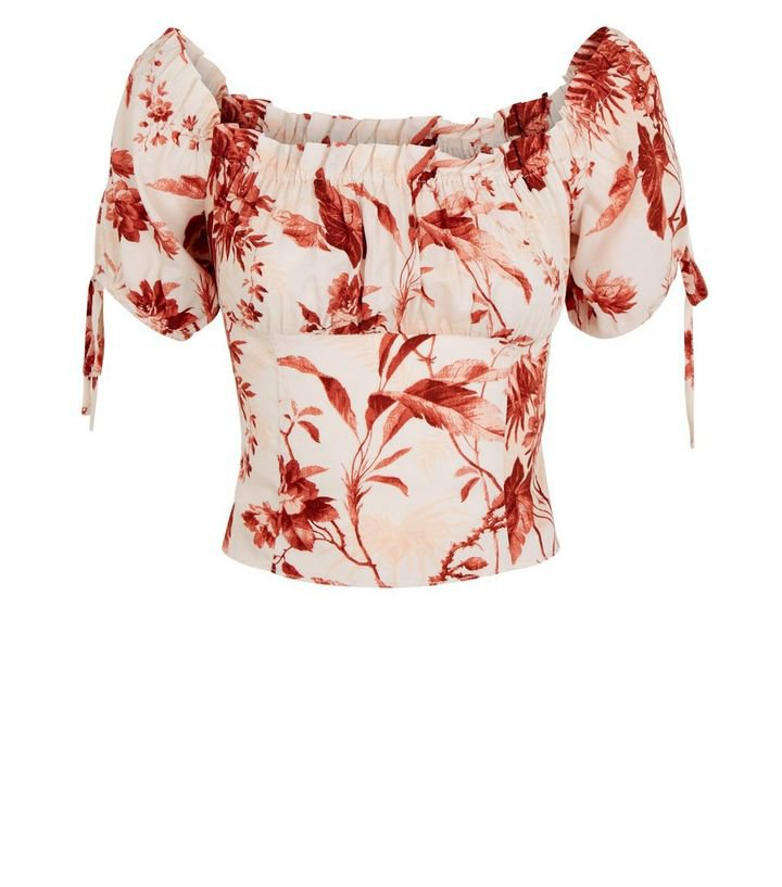 White Tropical Frill Trim Top | New Look
