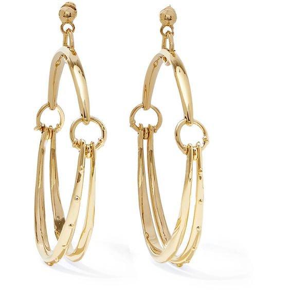 Chloé Nile gold-tone hoop earrings