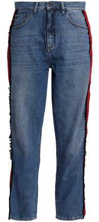 Victoria, Cropped High-rise Straight-leg Jeans