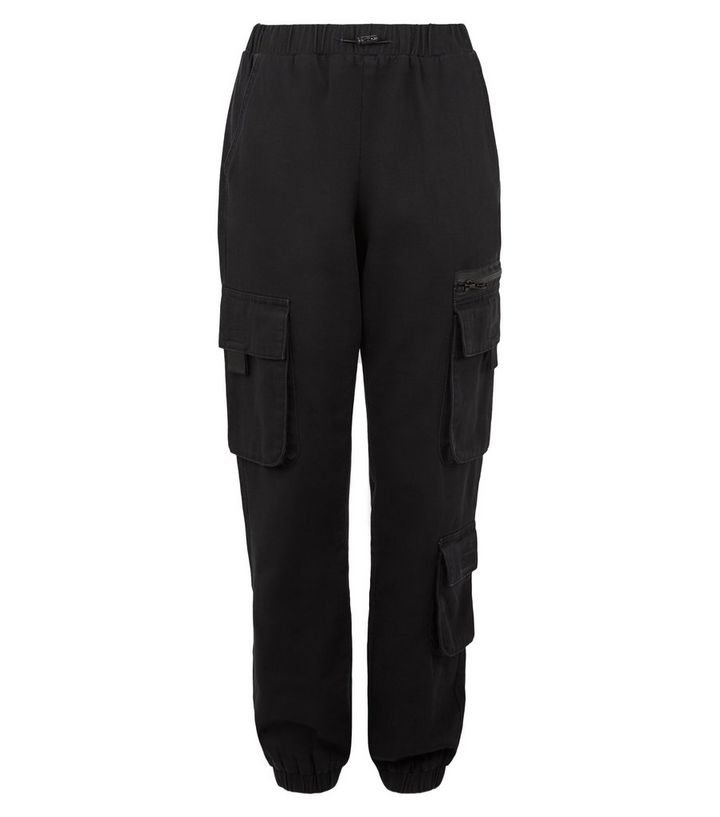 Girls Black Utility Trousers | New Look
