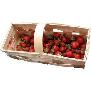 Fresh strawberries in basket