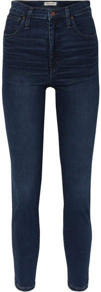 High-rise Skinny Jeans - Dark denim