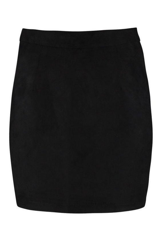 Woven Soft Suedette A Line Mini Skirt | Boohoo
