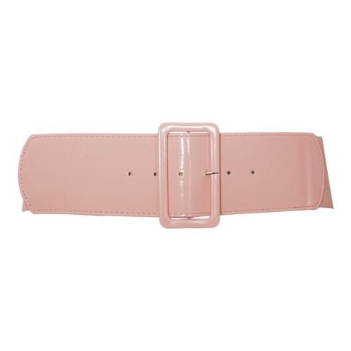Plus Size Wide Patent Leather Fashion Belt Baby Pink One Size Plus 34-42 inches | eBay
