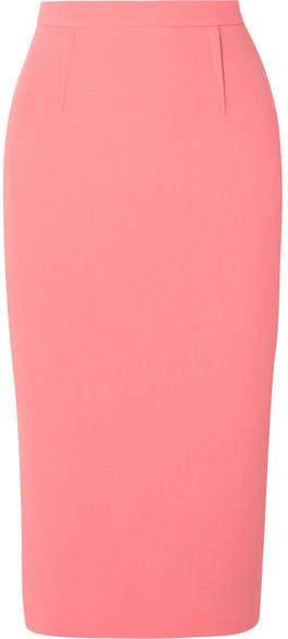 Arreton Wool-crepe Pencil Skirt - Peach
