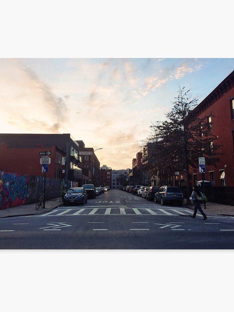 Brooklyn Sky Sunset Street Aesthetic | Canvas Print