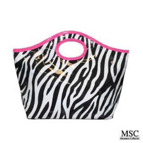 Mainstreet Zebra Animal Print Cutout Beach Bag Carry All Tote – Timely Buys