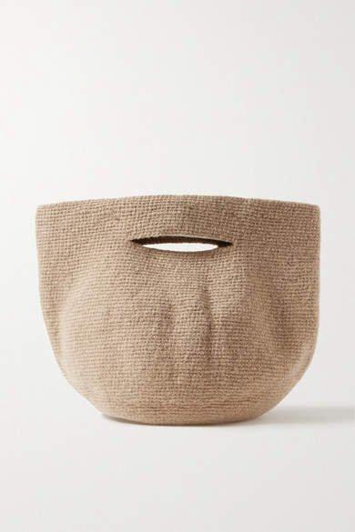 Bowl Wool Tote - Beige