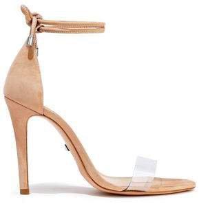Monique Pvc And Suede Sandals