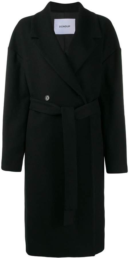 belted double-breasted coat
