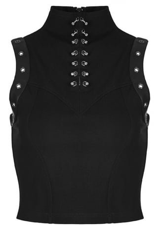 Punk Rave Gothic Disco Top | Attitude Clothing