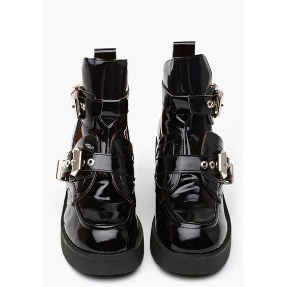 Coltrane Cutout Boot - Black Patent