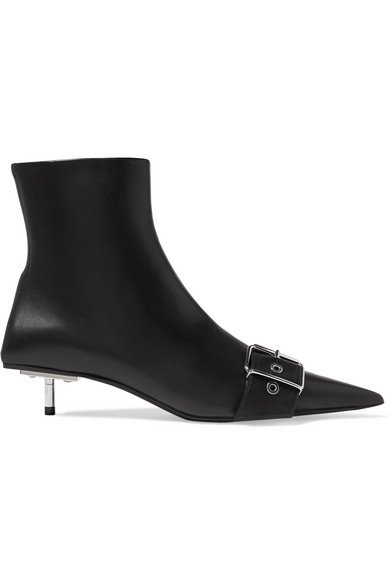 Balenciaga | Belt leather ankle boots | NET-A-PORTER.COM