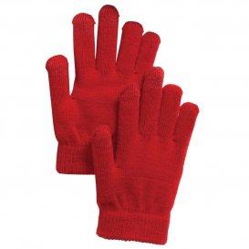 Sport-Tek STA01 Spectator Gloves - True Red | FullSource.com