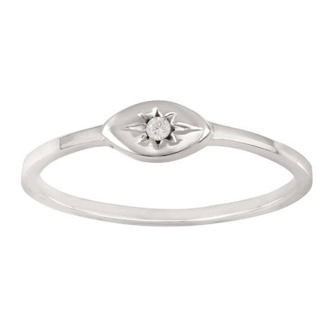 Sterling Silver CZ Star Ring   The Warehouse