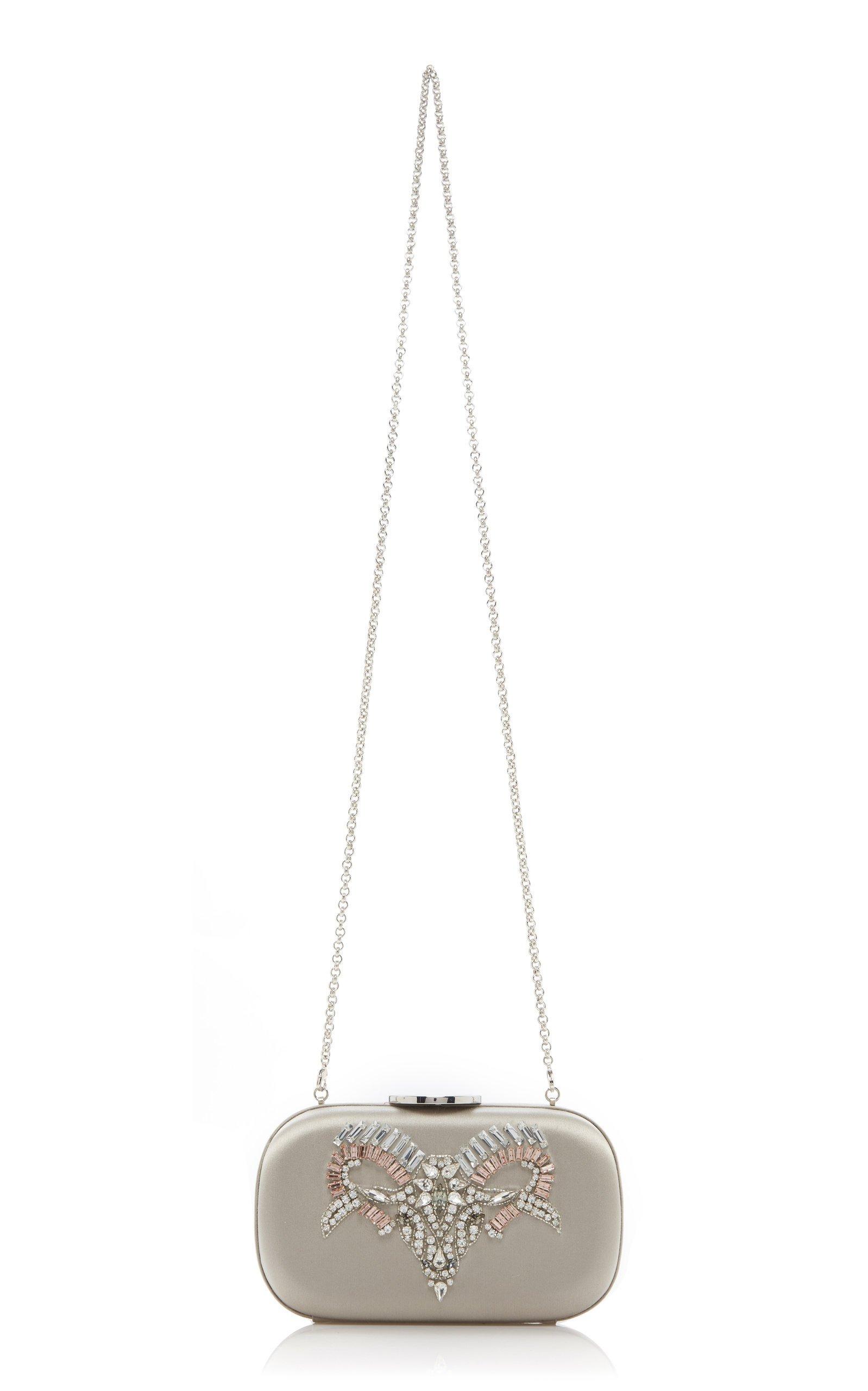 Embellished Satin Clutch by Giambattista Valli | Moda Operandi