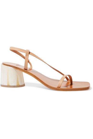 LOQ   Isla leather sandals   NET-A-PORTER.COM