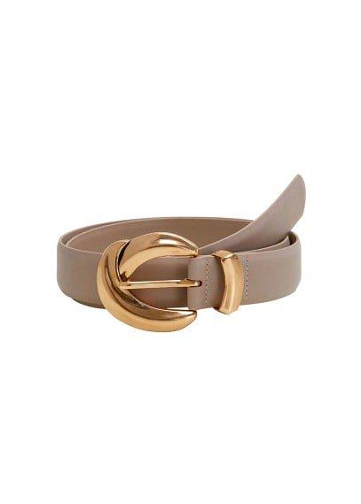 MANGO Rounded buckle belt