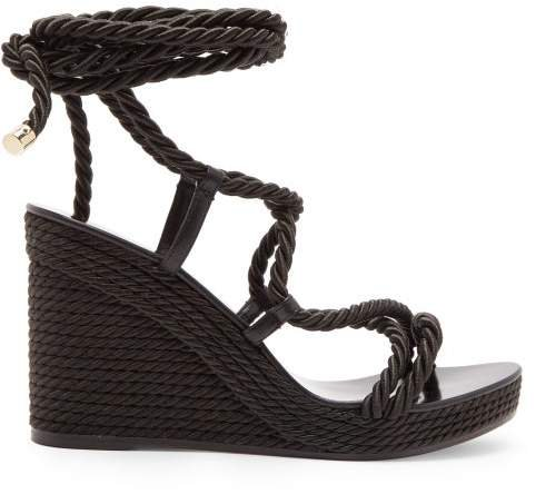 Allis 95 Espadrille Wedge Sandals - Womens - Black