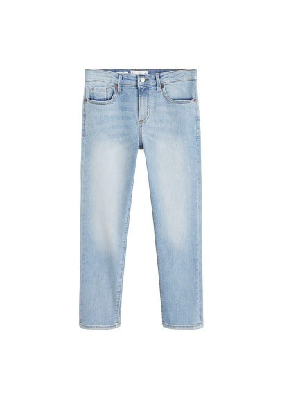 MANGO Cropped slim-fit Grace jeans