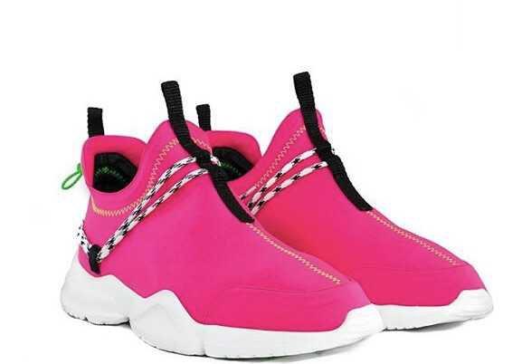 neon pink sneakers