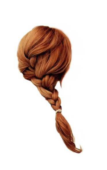 red hair plait