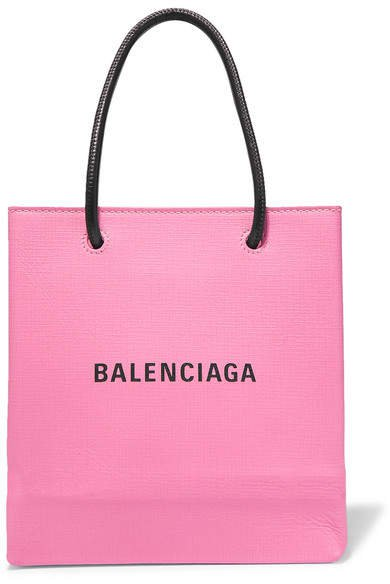 Xxs Printed Textured-leather Tote - Pink