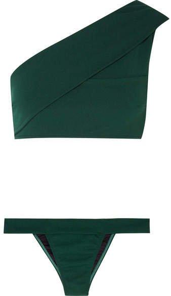 Haight - Maria One-shoulder Bikini - Green